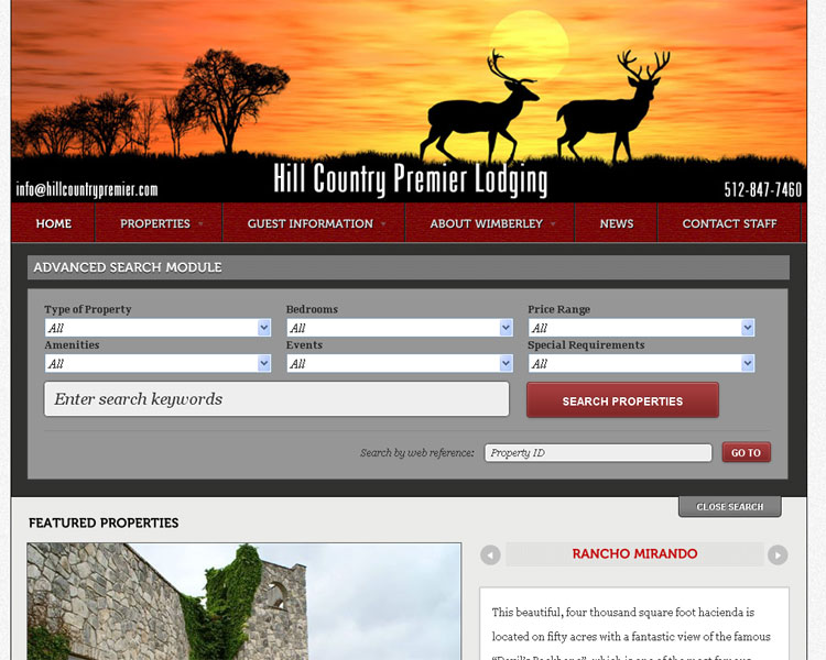 New Website – Hill Country Premier Lodging