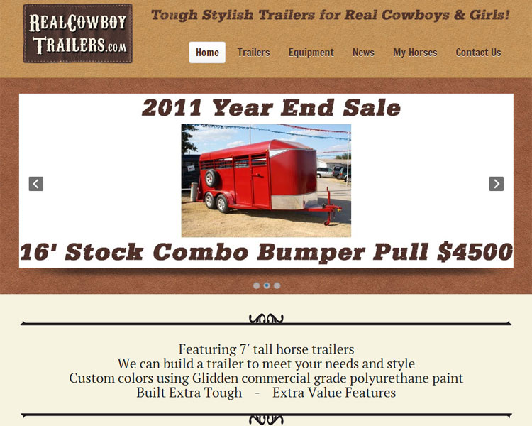 New Website for Real Cowboy Trailers