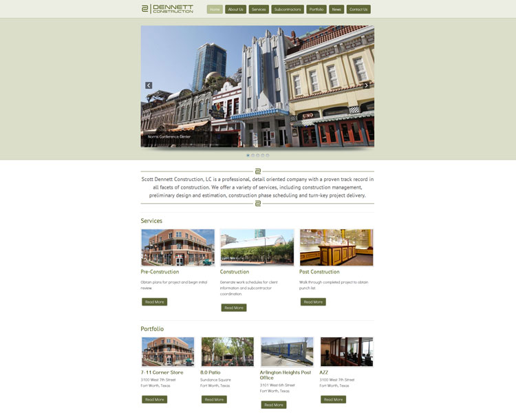 New Website – Dennett Construction